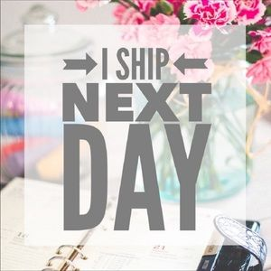 I ship same or next day on all orders!